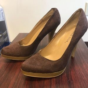 Wild Diva suede-like Heels